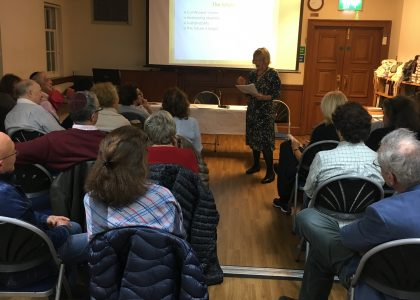 A review of Pam Fox's illustrated talk and book event: The Jewish Community of Golders Green