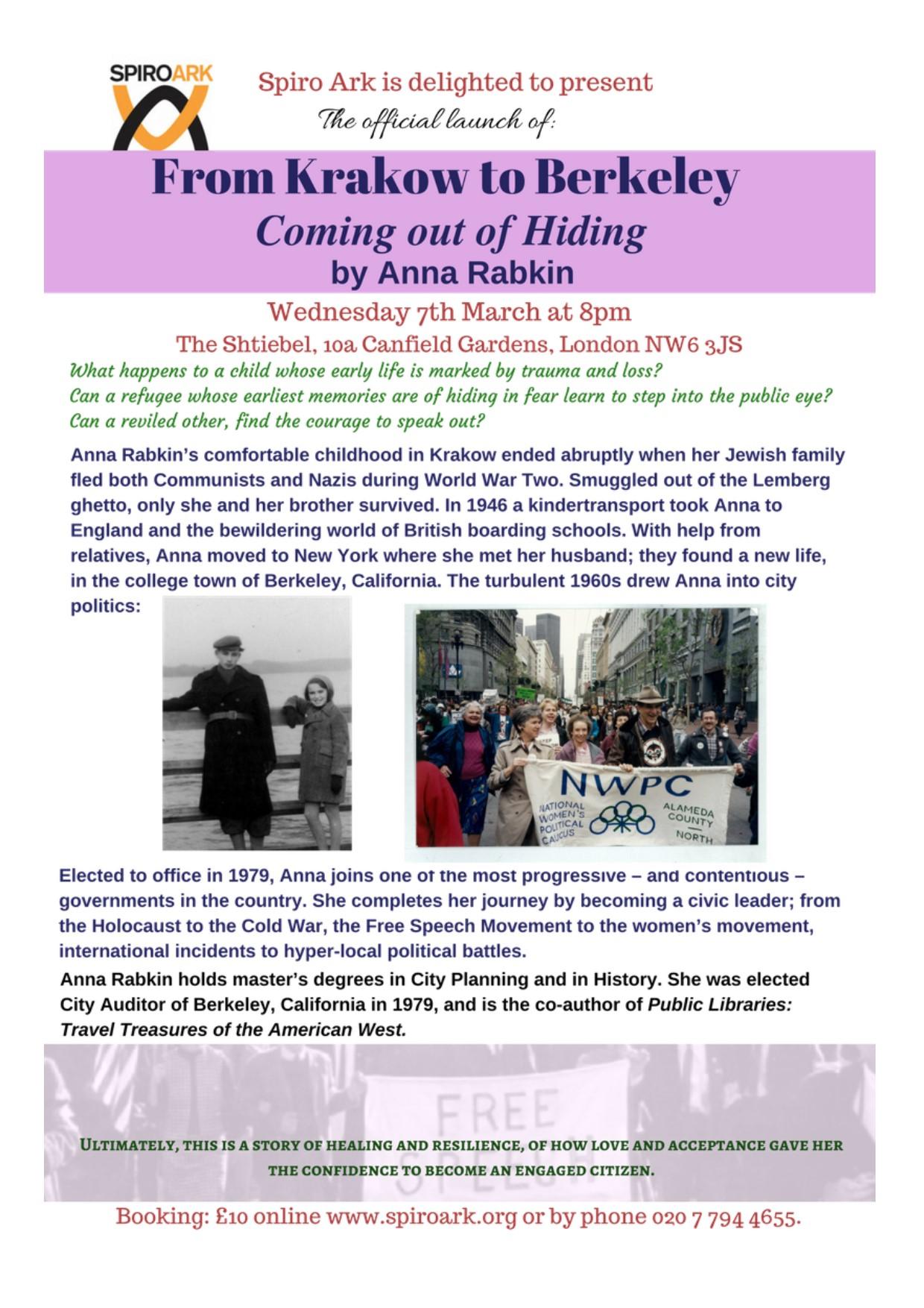 Book Launch: From Krakow to Berkeley