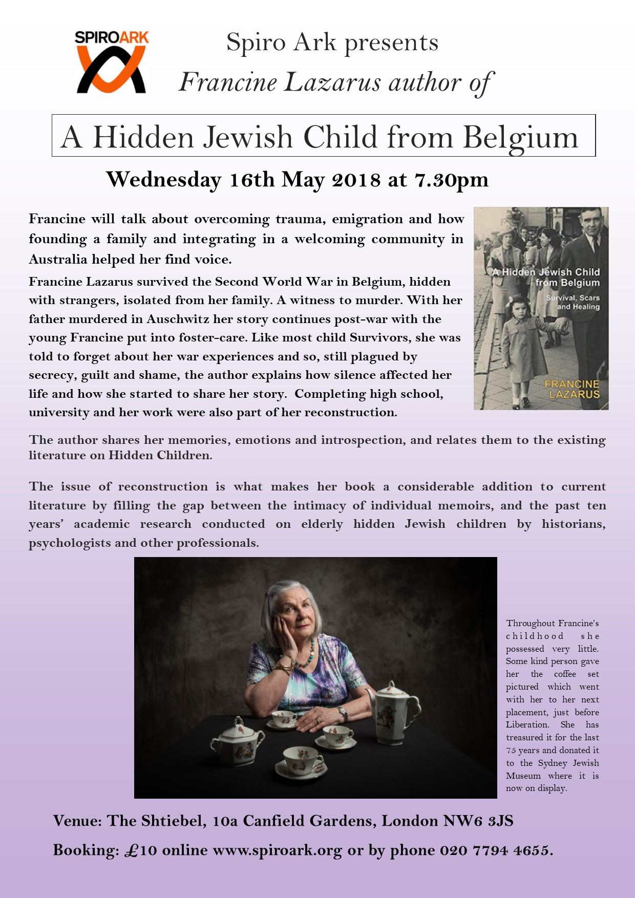 Book launch: A Hidden Jewish Child from Belgium