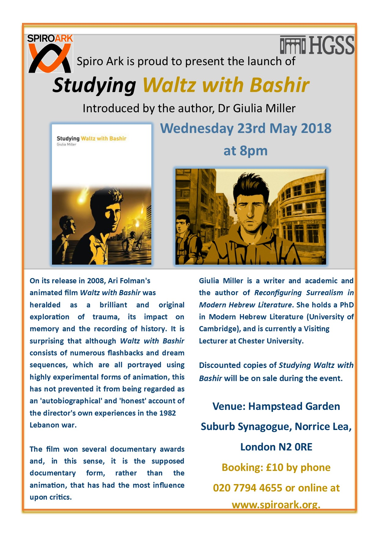Book Launch: Studying Waltz with Bashir
