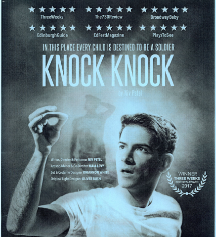 Knock Knock a Play by Niv Petel – Winner of 'Three Weeks Editor's Award 2017'