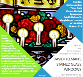 David Hillman Stained Glass Windows – Tour and Lecture by Prof. David Newman OBE