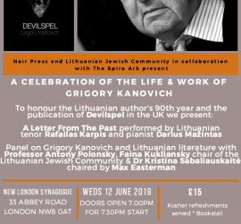 A celebration of the life and work of GRIGORY KANOVICH in his 90th year and upon the UK publication of Devilspel