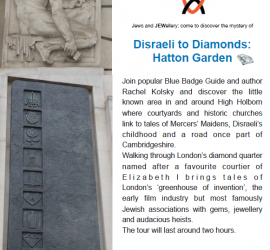 Disraeli to Diamonds: Hatton Garden Tour